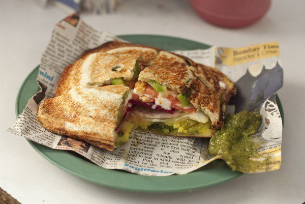 The 'Mumbai' style sandwich