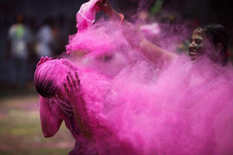 фото холи в  Индии