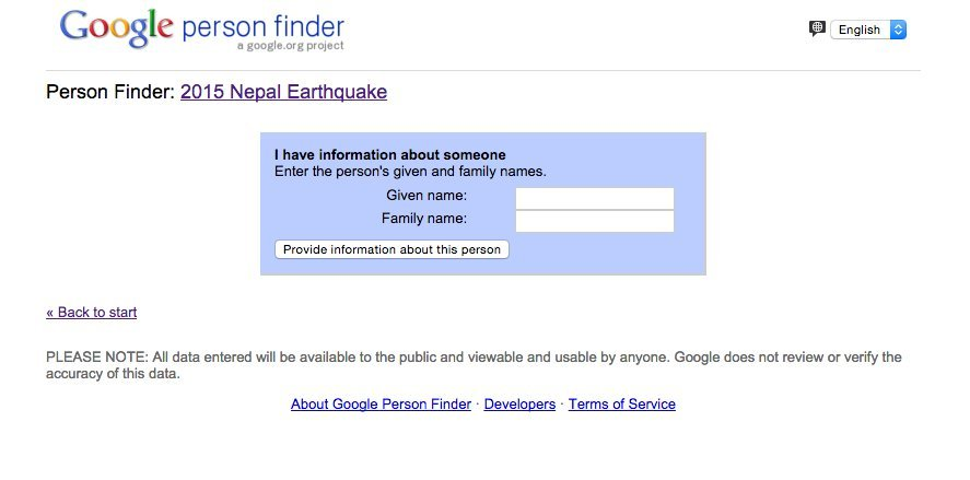 After The Tragic Nepal Earthquake, Google Person Finder
