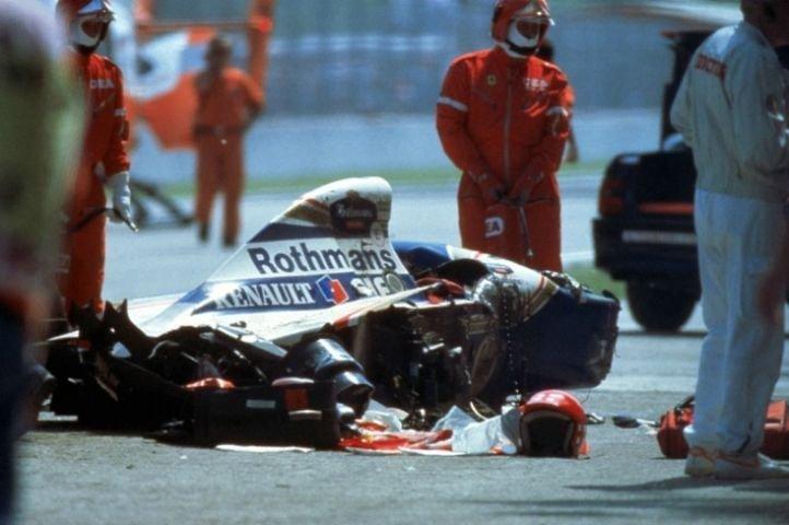 Where Is Senna S Crashed Car