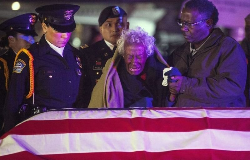 3. A widow receives her husband's body about after 63 years. Army Sgt. 1st Class Joseph Gantt died as a PoW during the Korean War in 1951.