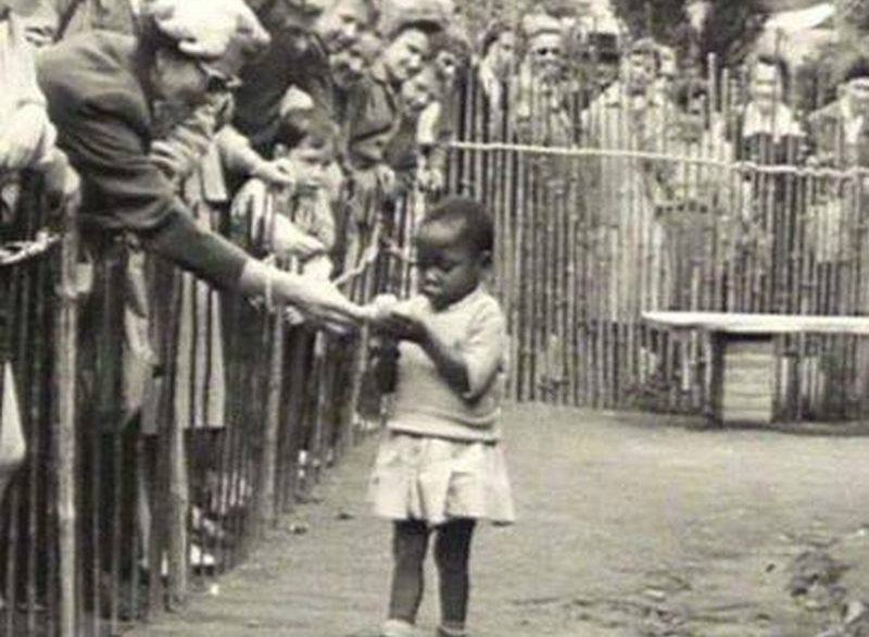 31. An African girl is actually part of a zoo! A human zoo in Belgium, 1958.