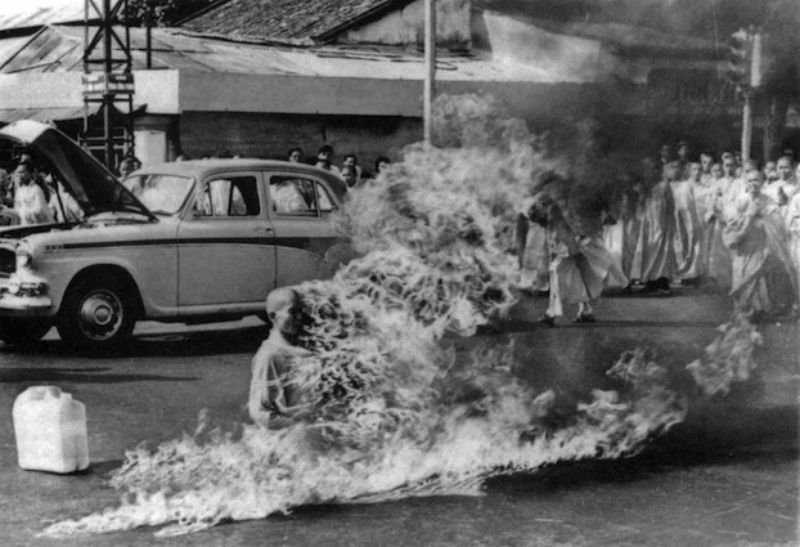 38. A monk in Vietnam self immolates in a protest against persecution of Buddhists by South Vietnam's Ngo Dinh Diem administration.