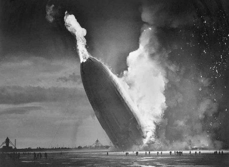 39. The Hindenburg Disaster in June, 1937.