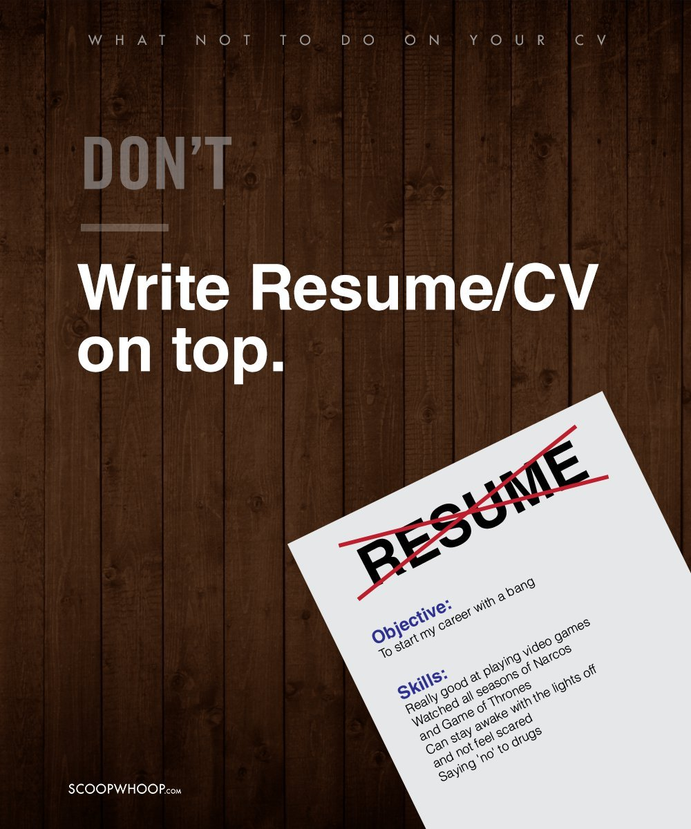 10 Things You Should Avoid Doing On Your Cv If You Want To Land