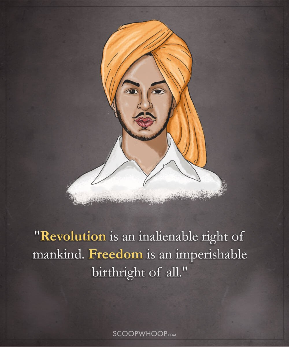 18 Powerful Quotes By Bhagat Singh That Explain Why Hes Indias