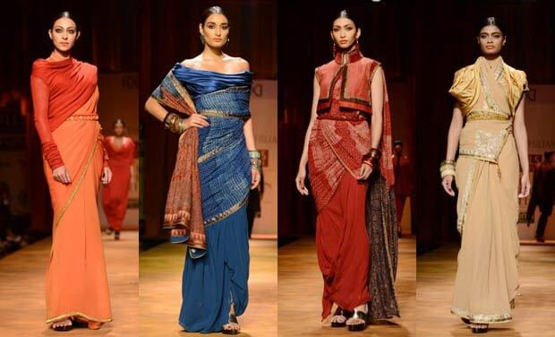 79ae63d519 Ditch The Conventional & Try These 10 New Ways Of Draping A Saree This  Wedding Season