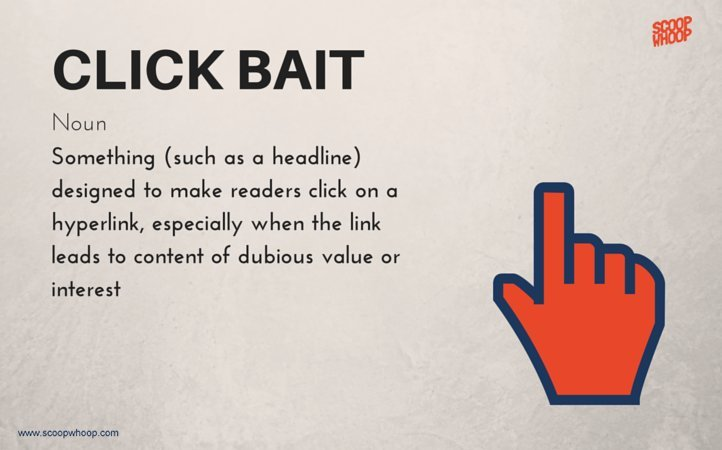 Clickbait photobomb among new words added to merriam webster dictionary other new words include clickbait a noun defined as something such as a headline designed to make readers want to click on a hyperlink especially ccuart Images