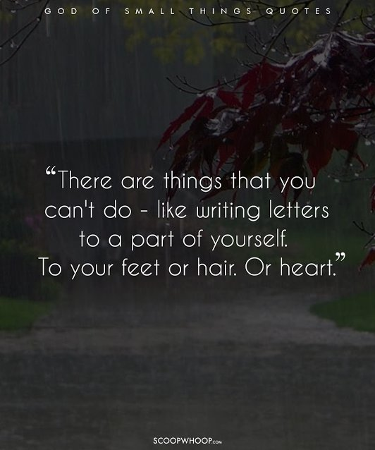 72 of the Best The God Of Small Things Quotes With Page Numbers