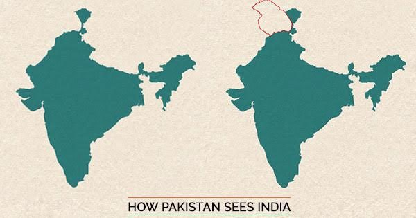 This Is What India's Map Looks Like According To Pakistan, China