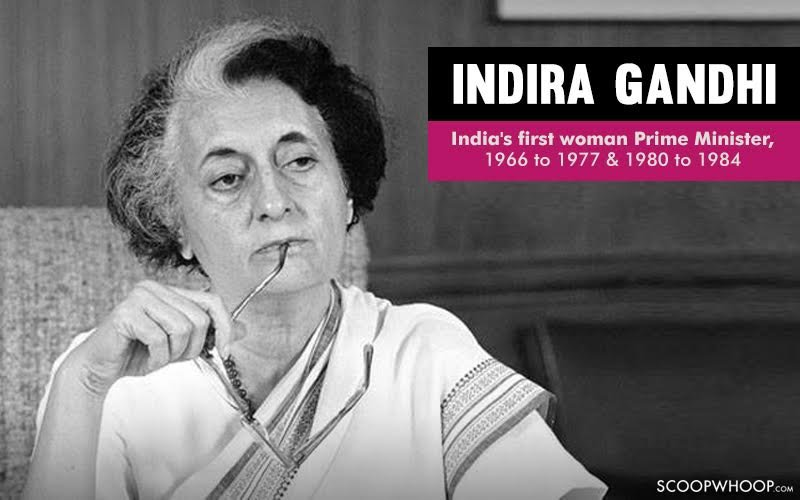 indira gandhi the first female prime minister of india