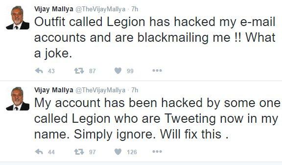 Hackers Target Vijay Mallya's Twitter Account  Release His