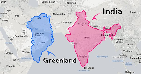 this international website compares true sizes of countries itll make you rethink everything