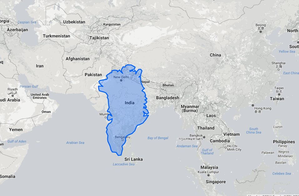 This International Website Compares True Sizes Of Countries Itll - India-us-map