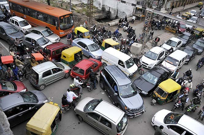 Image result for traffic jam in india