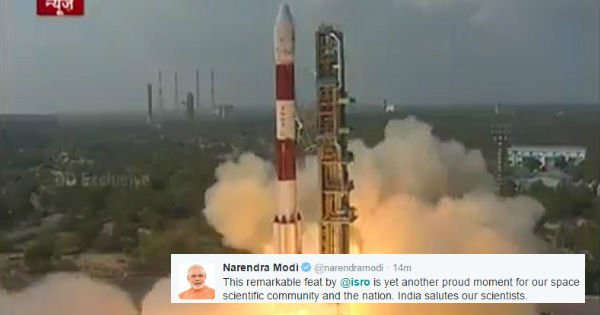 Indians Cheer As ISRO Sets New World Record By Launching 104 Satellites On One Rocket