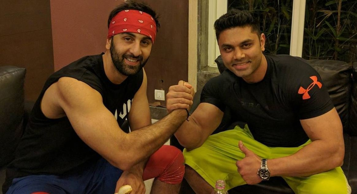 Ranbirs look test pic for dragon mistaken for still from sanjay ranbir kapoor with his trainer kunal gir image source instagramkunal gir altavistaventures Image collections