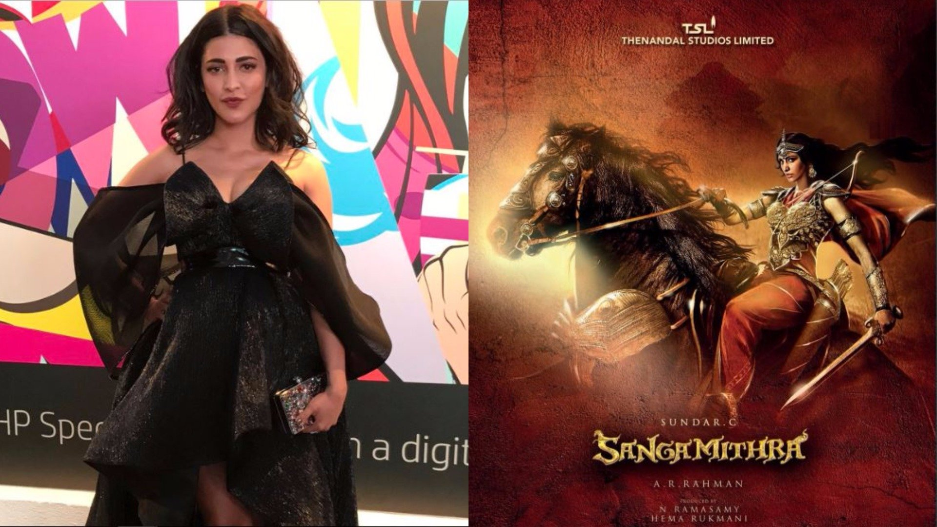 e07bdf3f594 Shruti Haasan Opts Out Of 'Sangamithra' After Unveiling The Poster ...