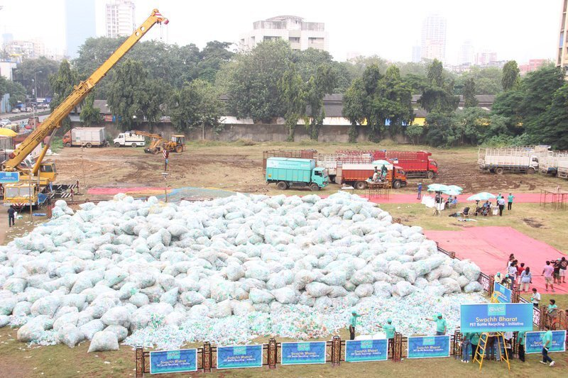 so bisleri broke the guinness world record by collecting 1 1