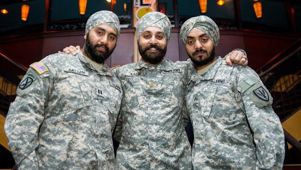 5 sikhs join us army days after turbans are allowed in military