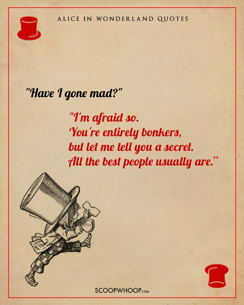Quotes From Alice In Wonderland: 10 Breathtaking Quotes From Alice In Wonderland That Can