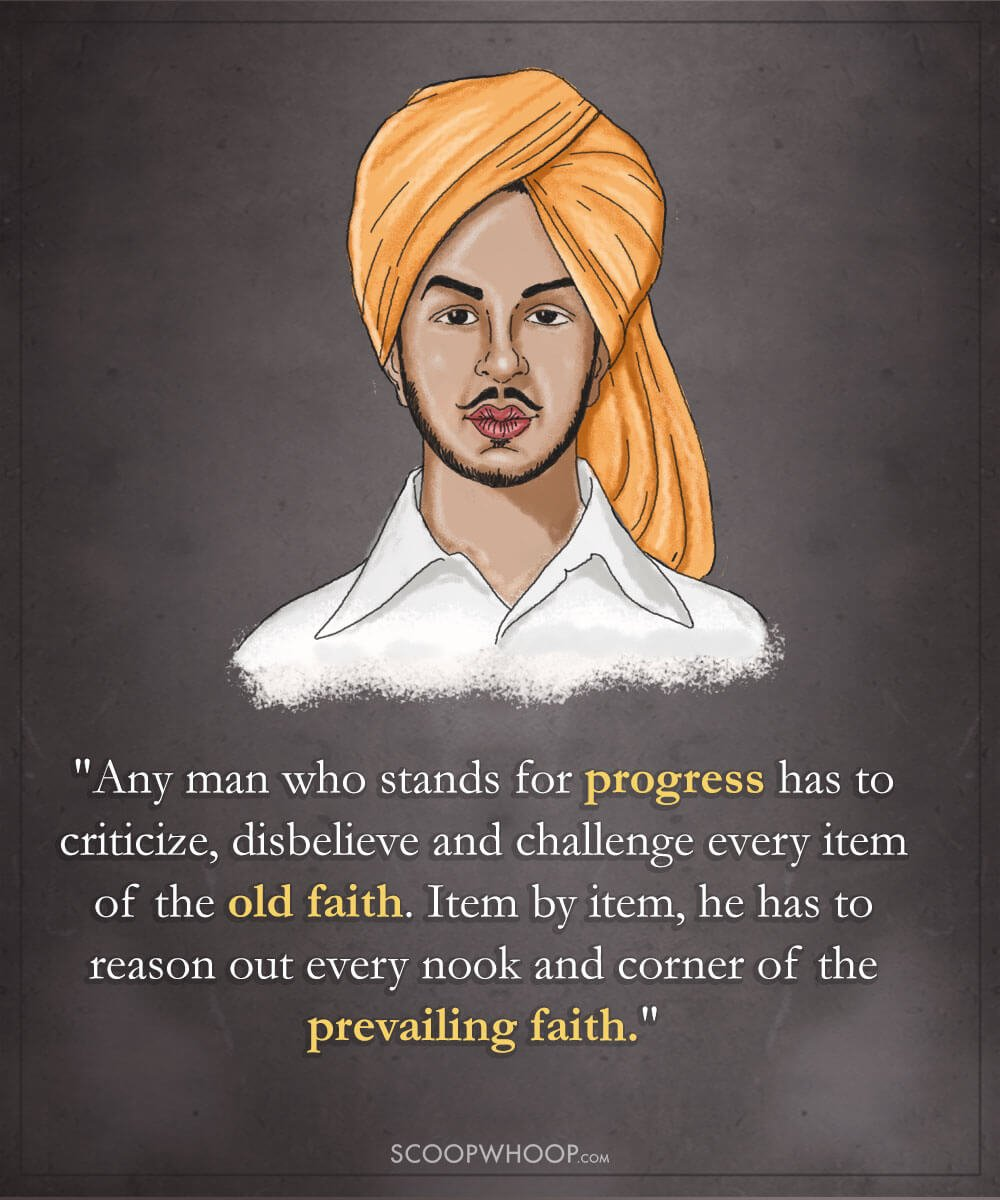 18 Powerful Quotes By Bhagat Singh That Explain Why He's