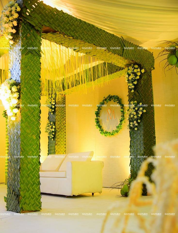 Wedding Decoration With Coconut Leaves Image Collections
