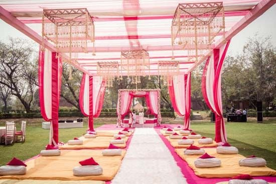 An Elegant Yet Colourful Decor For A Sikh Wedding Your Guests Will Love The Added Comfort Of Bolsters And Cushions