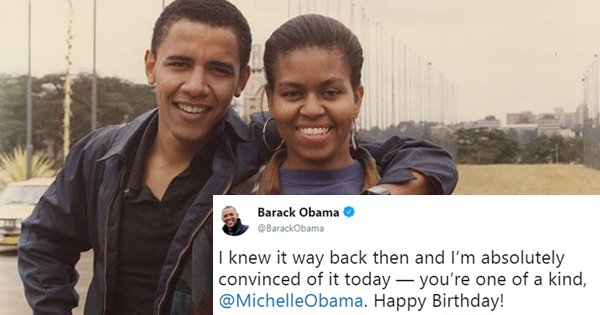 Barack Shares The Sweetest Throwback Photo With Michelle And Yes, We Stan!