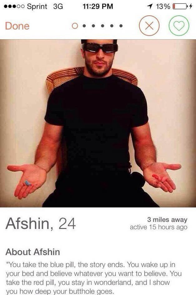 20 Tinder Profiles That Are So Funny, You'll Want To Swipe Right