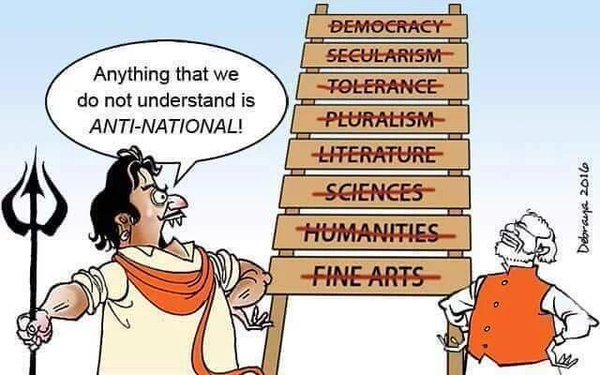 Image result for bjp patriotism and nationalism cartoons