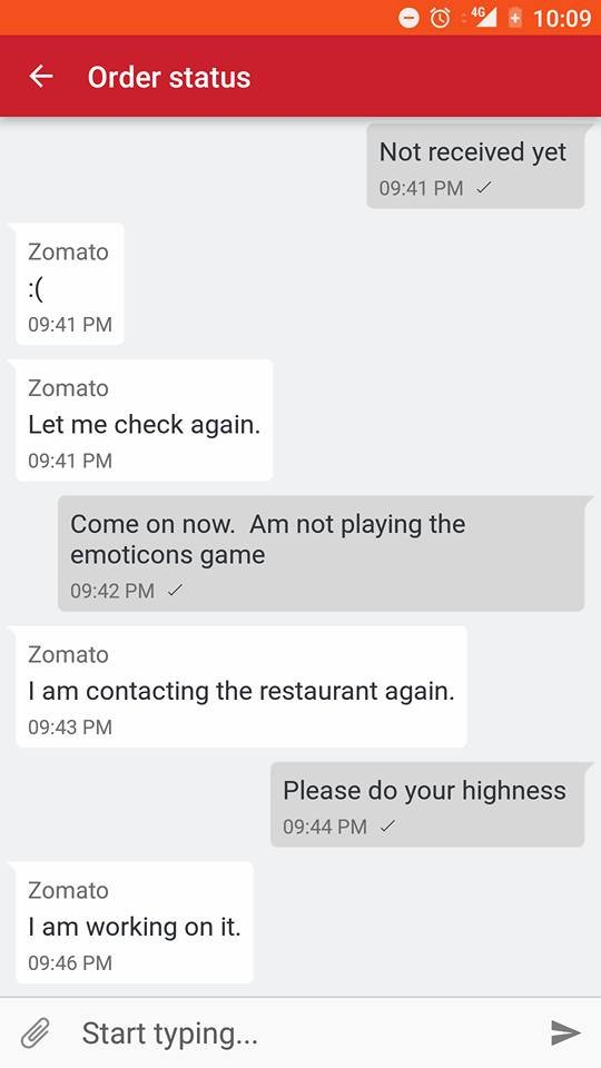 He just informed Zomato that he hasn\u0027t received the order and here\u0027s what  followed