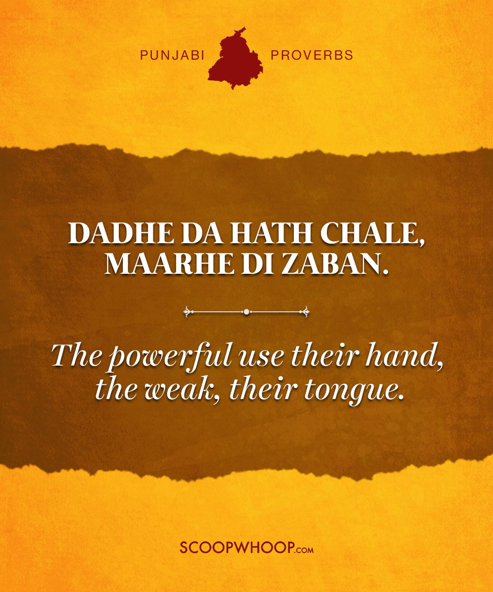 profound punjabi proverbs about life that say it as it is