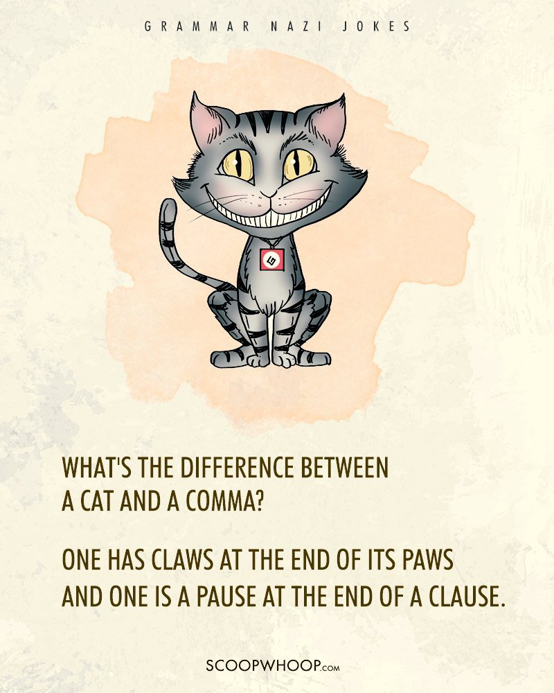 12 grammar nazi jokes that u2019ll tell the difference between