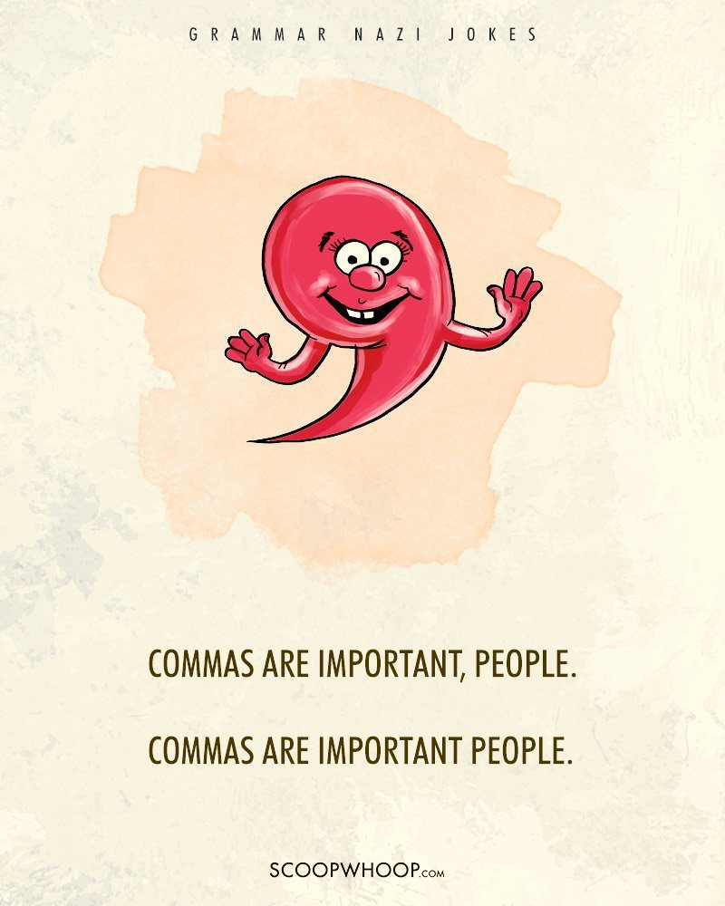 12 grammar nazi jokes that�ll tell the difference between