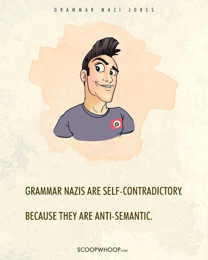 12 grammar nazi jokes that u2019ll tell the difference between
