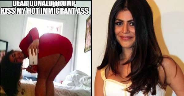 Shenaz Treasury Asks Donald Trump To Kiss Her Hot Immigrant Ass Following His Racist Comments