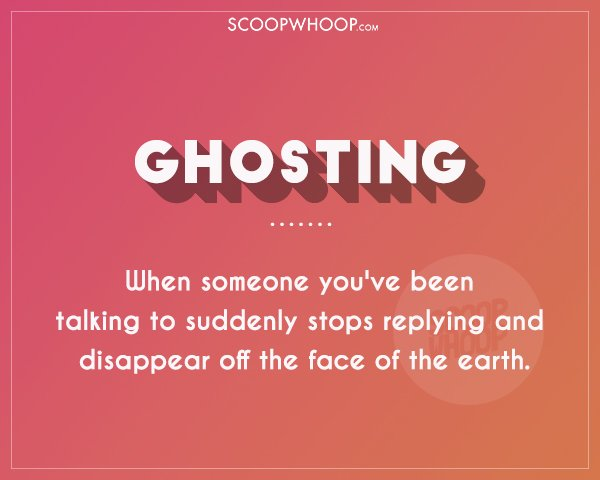 define ghosting dating Ghosting someone is rude, while breadcrumbing someone is deceitful you can say a lot of things about ghosting, but at least when the ghosted person realizes it's over, it's over.