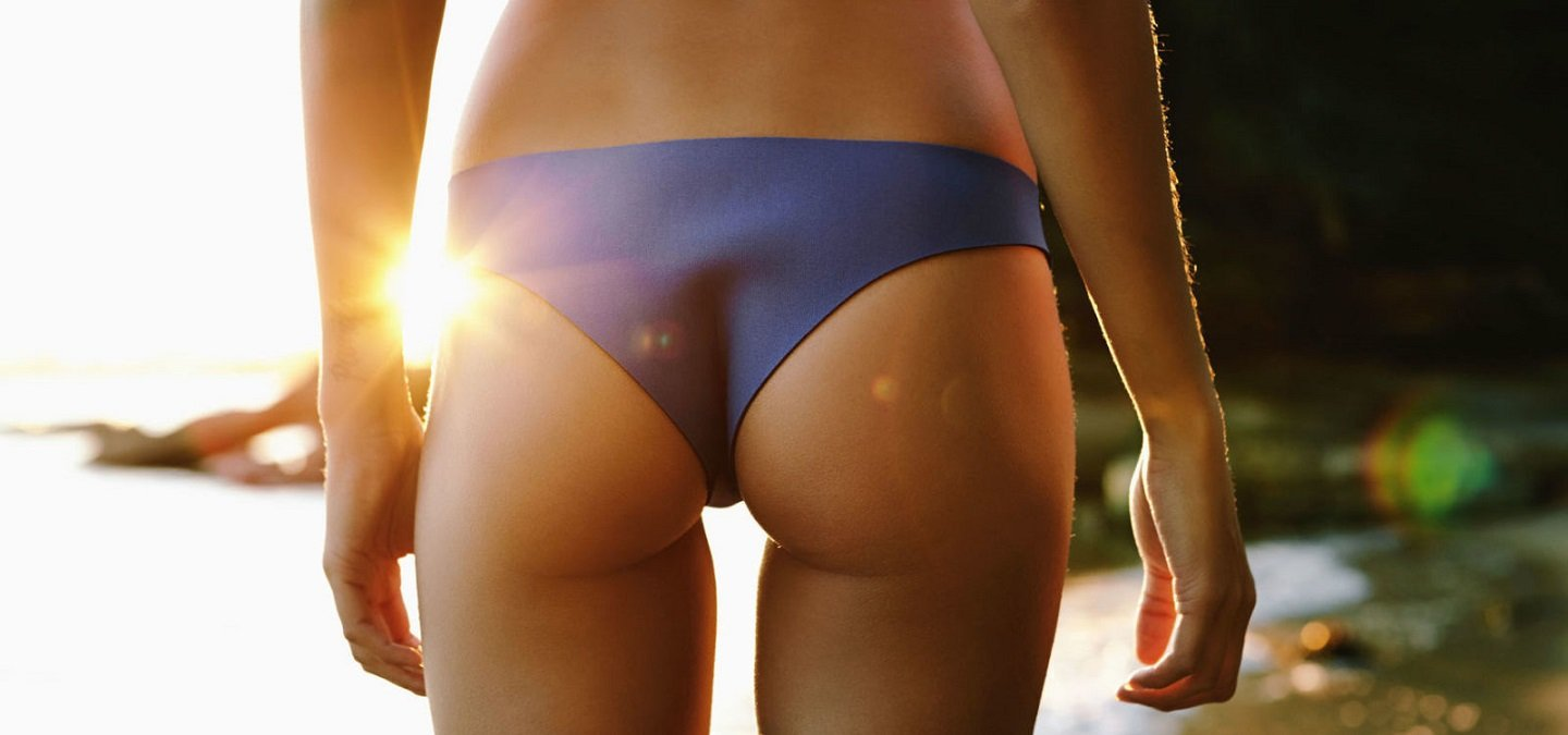 Teen girls swim in their knickers