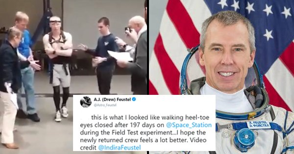 This NASA Astronaut Trying To Walk On Land After 197 Days On ISS Shows Space Travel Is No Cake Walk