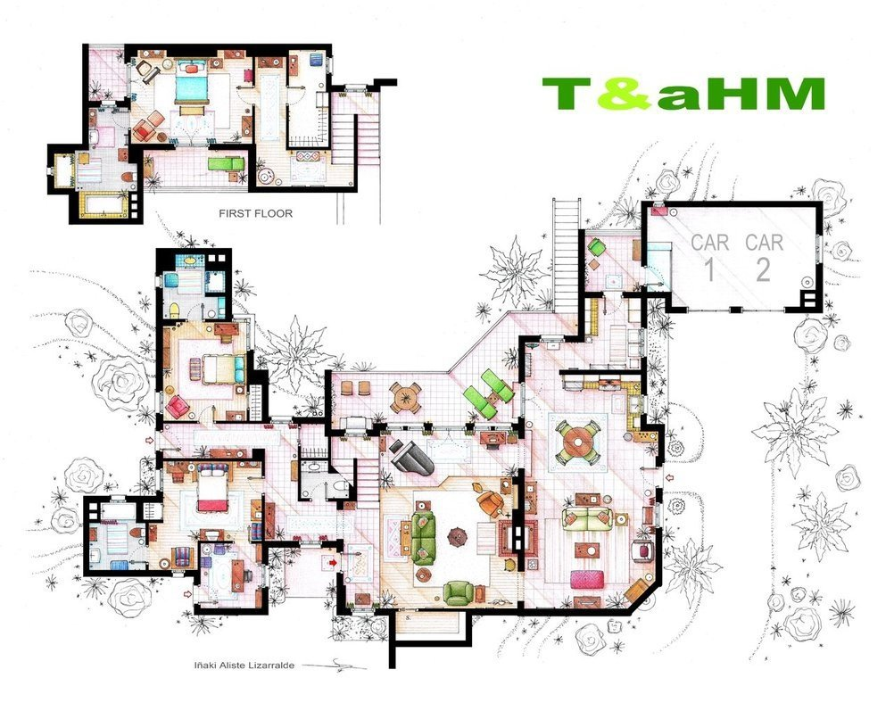 these floor plans from the sets of popular tv shows will make you source home designing