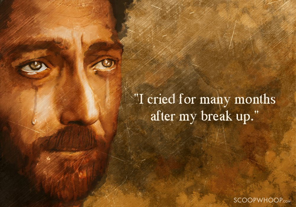 Do guys cry after a break up