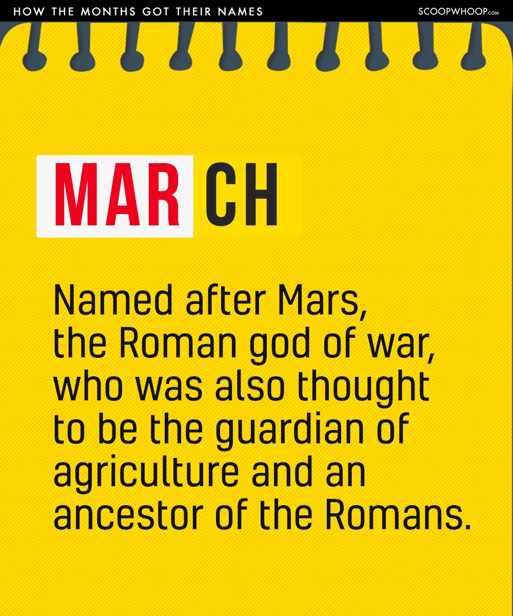We Bet You Did Not Know How The Months Of The Year Got Their Names
