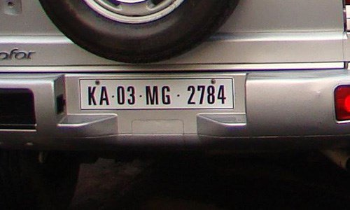 whose number plate is this