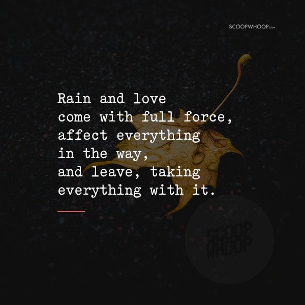 25 Short Poems About Love In The Time Of Rain That Will