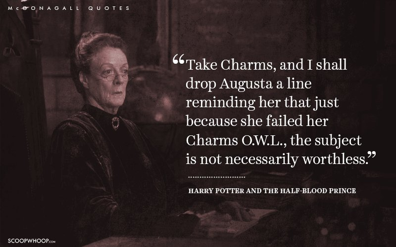 times professor mcgonagall proved that she is the official