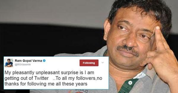 A Quits At His Tweets Why Finally It's Past Varma Gopal Ram Twitter Relief Look Shows