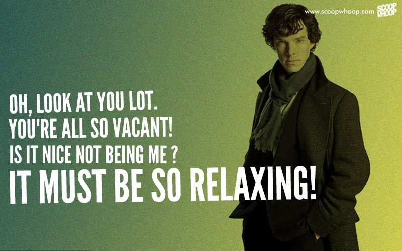 Sherlock Quotes Inspiration On Benedict Cumberbatch's Birthday We Look Back At The 48 Best
