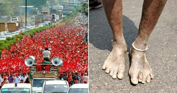 Heartbreaking Pics Of The Silent March By Farmers In Maharashtra
