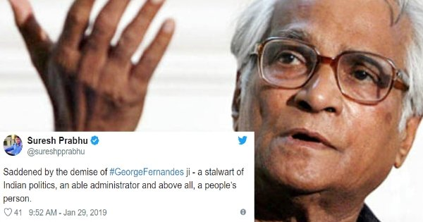 Former Defence Minister, George Fernandes Passes Away At The Age Of 88